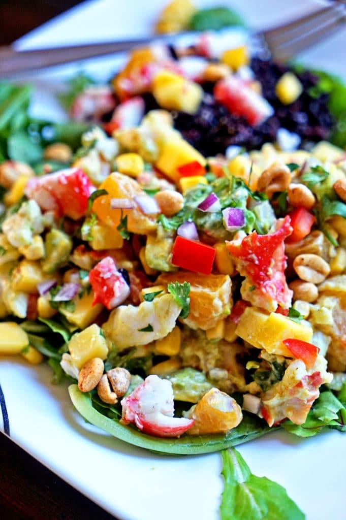 Papaya Crab Salad with Black Rice1