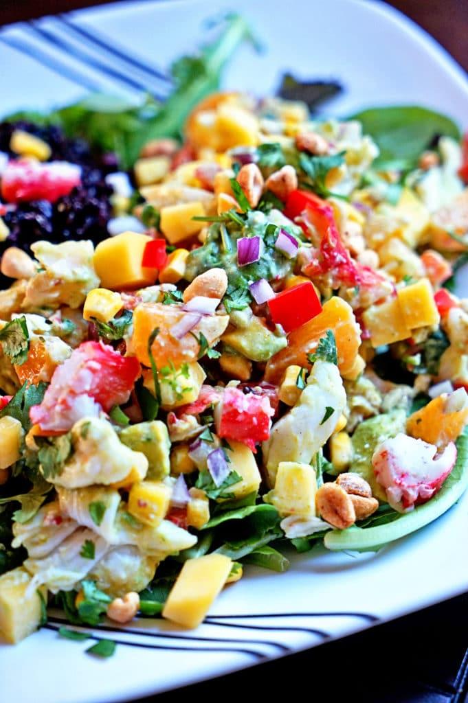 Papaya Crab Salad with Black Rice5