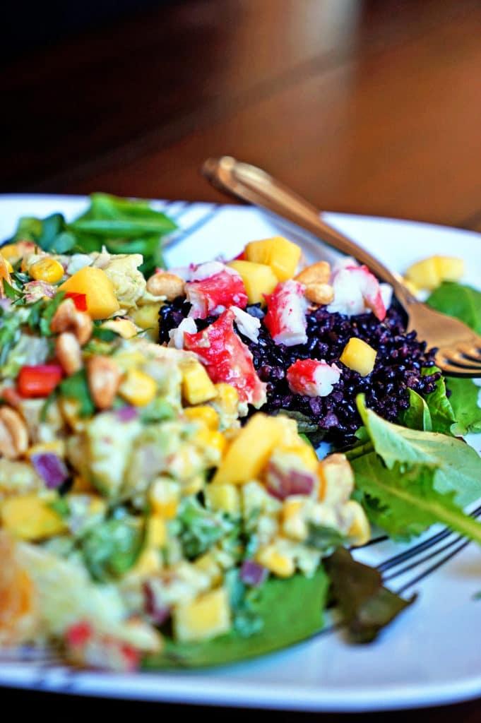 Papaya Crab Salad with Black Rice6