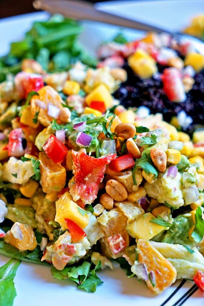 Papaya Crab Salad with Black Rice7