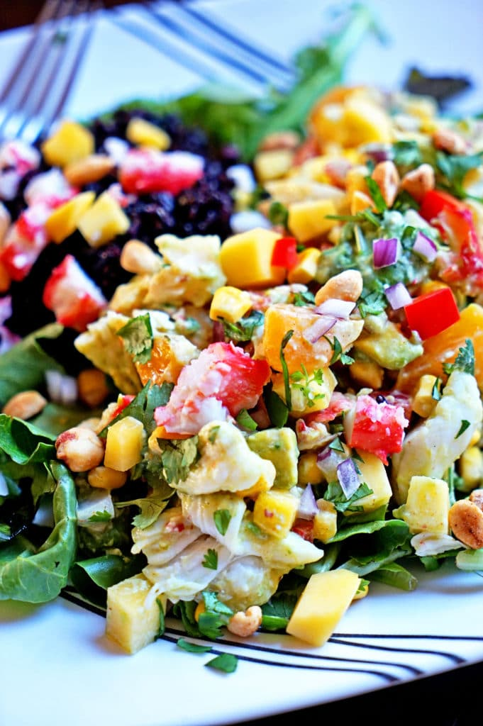 Papaya Crab Salad with Black Rice8