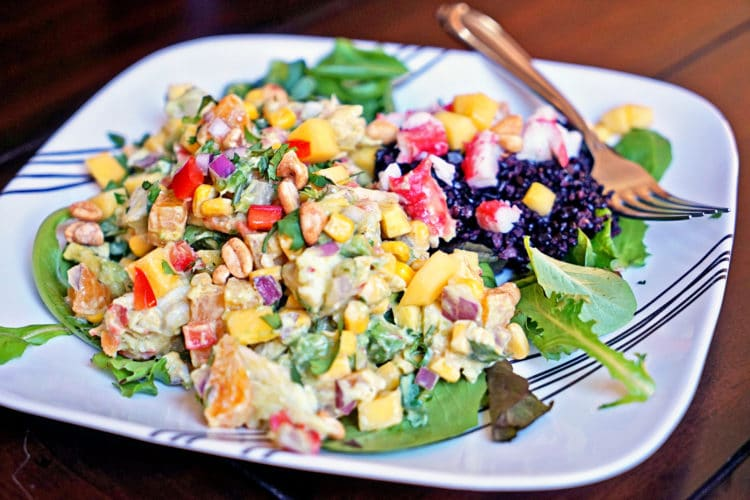 Papaya Crab Salad with Black Rice9