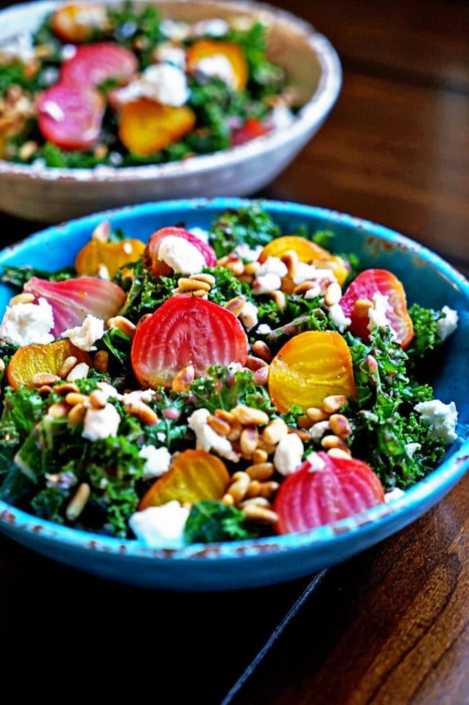 Roasted Beet Salad with Pomegranate Mint Vinaigrette4