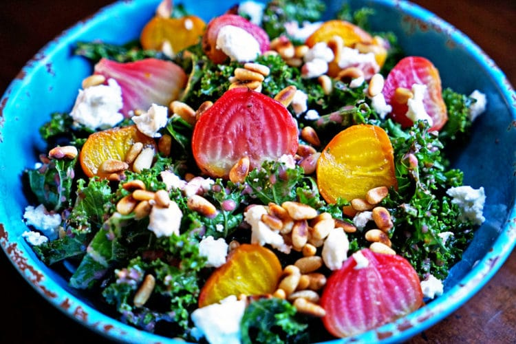 Roasted Beet Salad with Pomegranate Mint Vinaigrette5