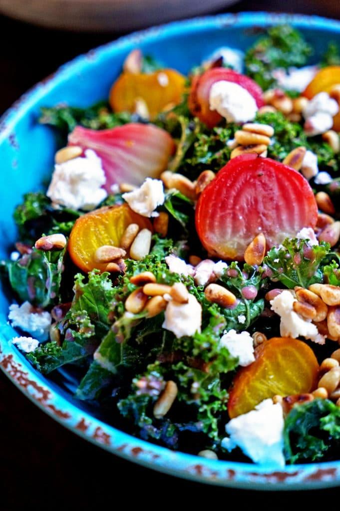 Roasted Beet Salad with Pomegranate Mint Vinaigrette6