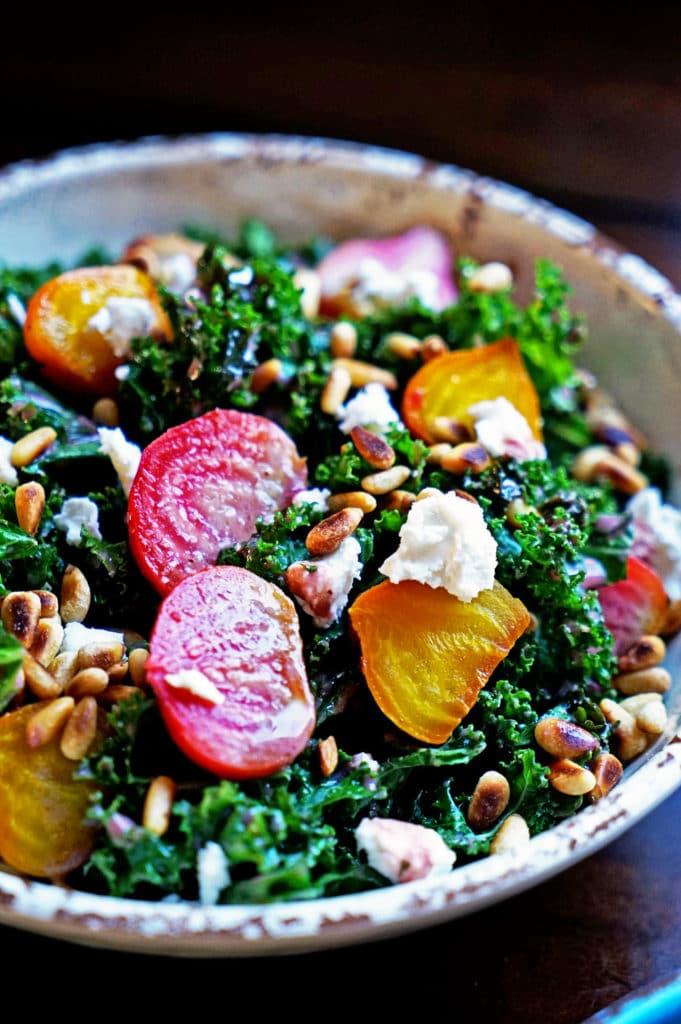 Roasted Beet Salad with Pomegranate Mint Vinaigrette7