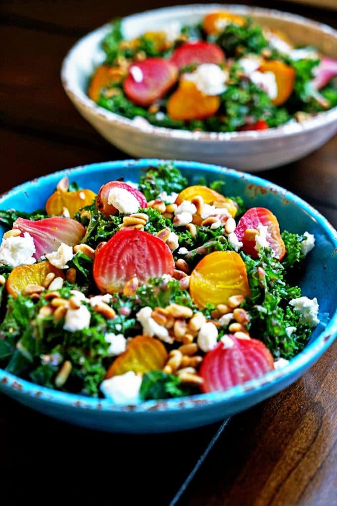 Roasted Beet Salad with Pomegranate Mint Vinaigrette8