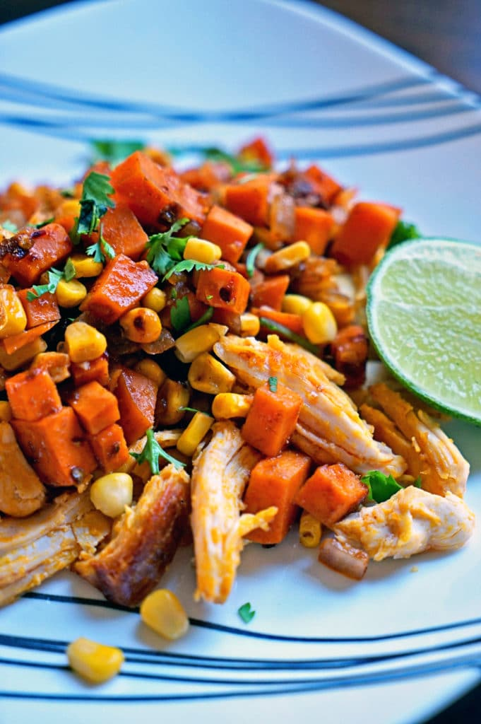 Southwest Sweet Potatoes Corn and Achiote Chicken1