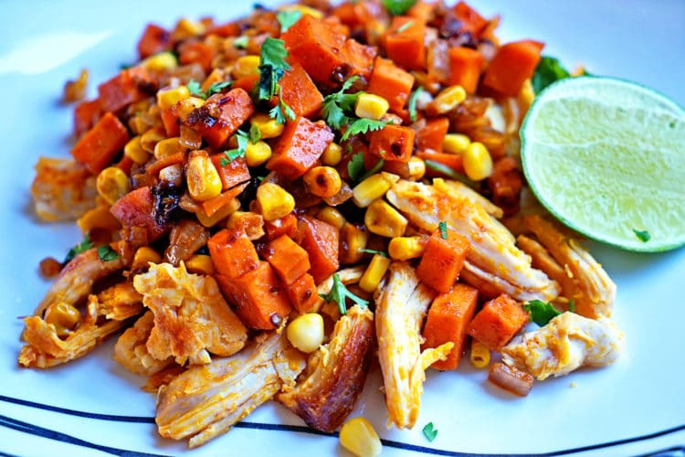 Southwest Sweet Potatoes Corn and Achiote Chicken2