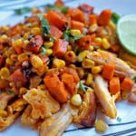 Southwest Sweet Potatoes Corn and Achiote Chicken