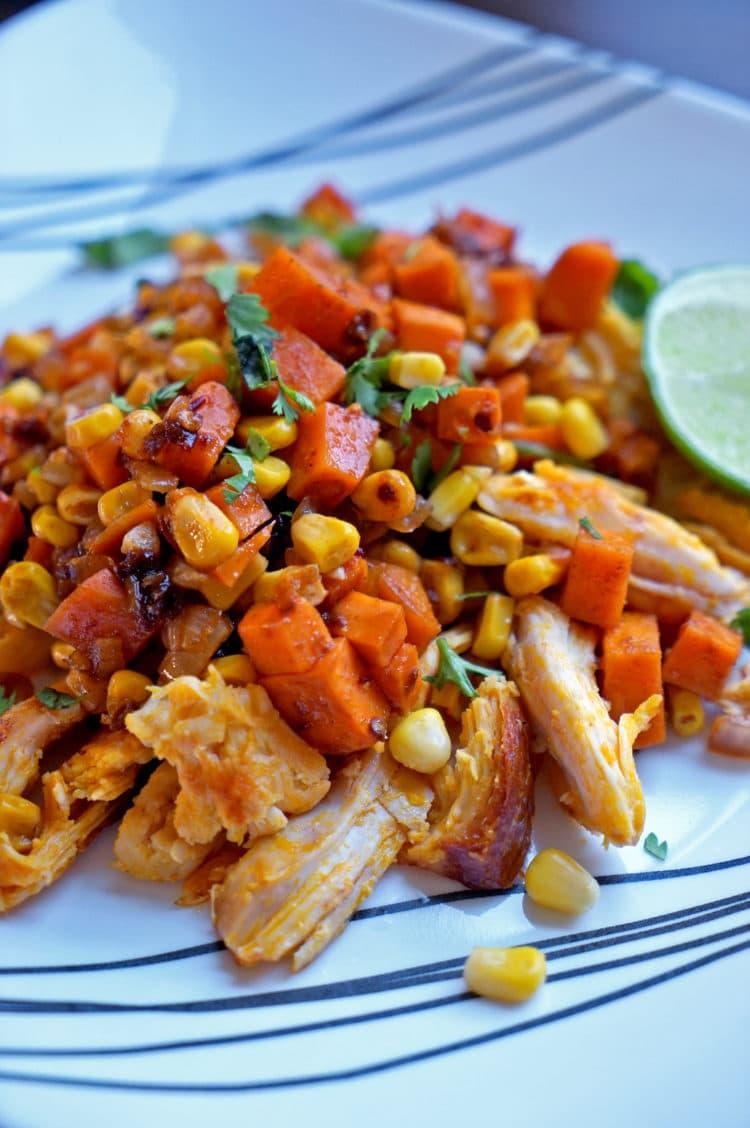 Achiote Chicken Corn And Achiote Chicken