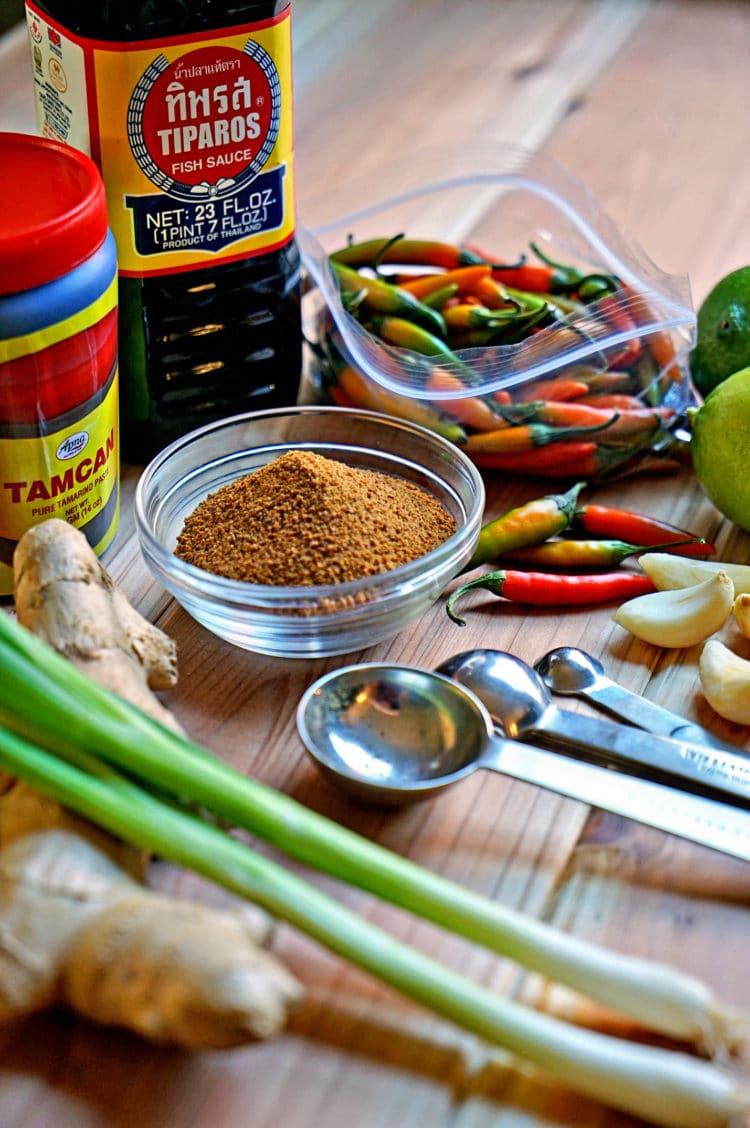 ingredient sot make sweet glaze for salmon