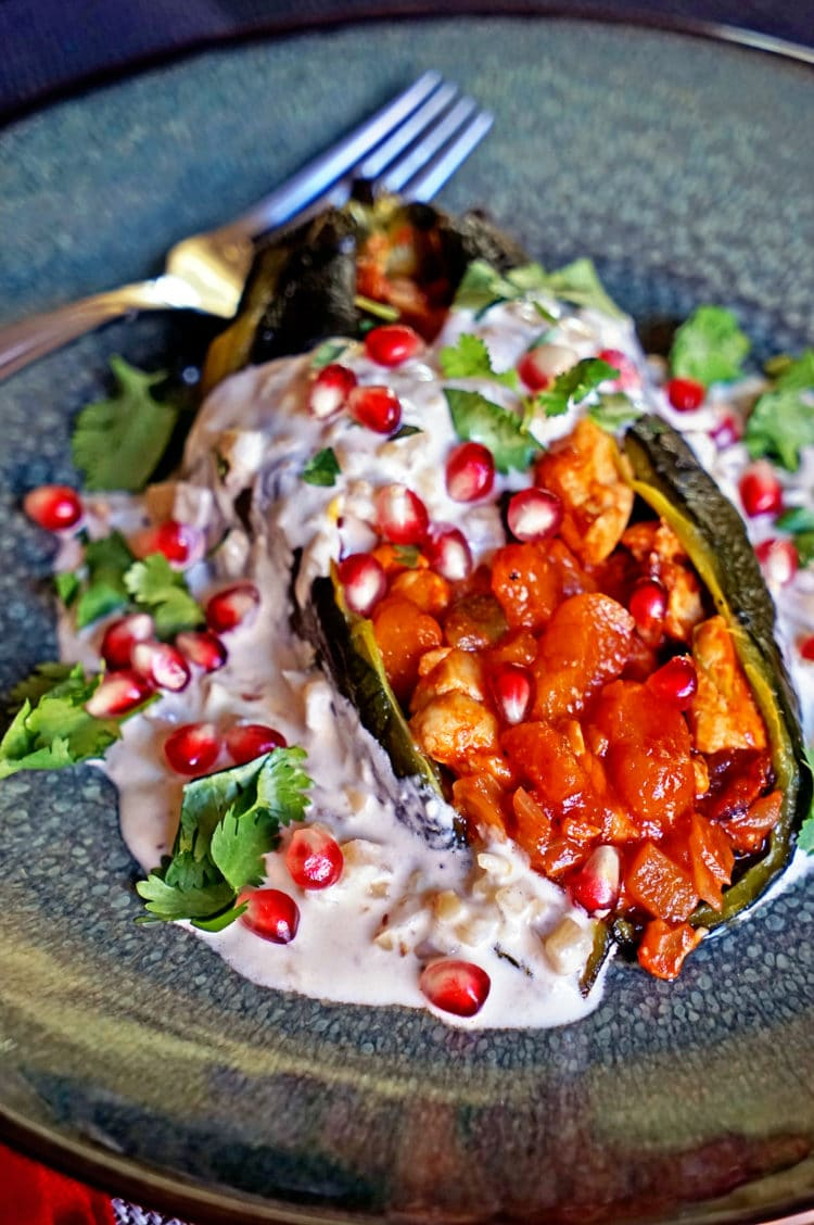 Chiles en Nogada are roasted poblano chiles stuffed with fruit ...