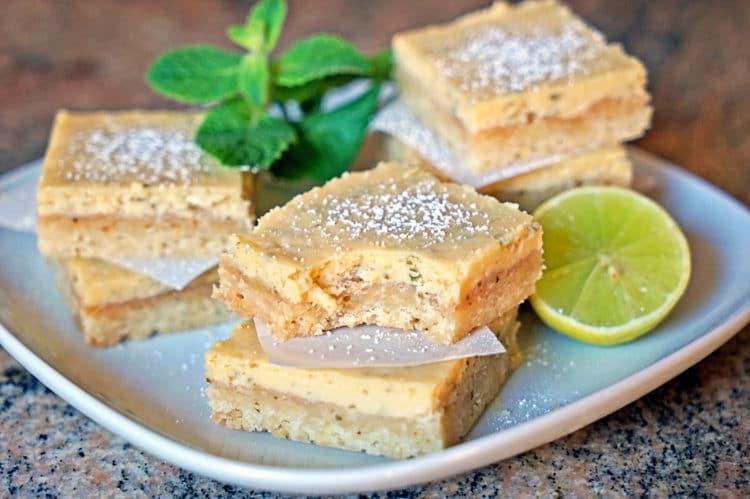 Cuban Mojito Shortbread Bars - keviniscooking.com
