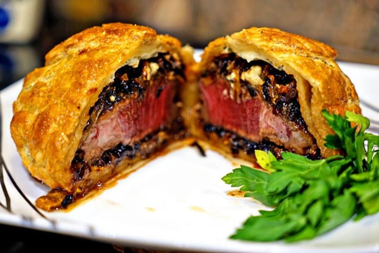 Individual Beef Wellingtons with Caramelized Onions and Bleu Cheese Rosemary Compound Butter13