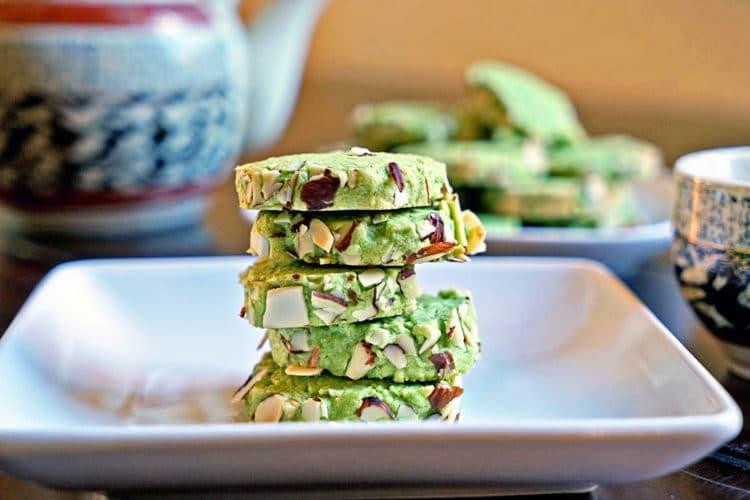 Macha Green Tea Almond Shortbread Cookies2