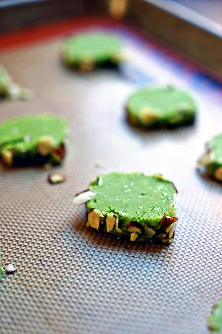 Matcha Tea Leaf Shortbreads Recipe — Dishmaps
