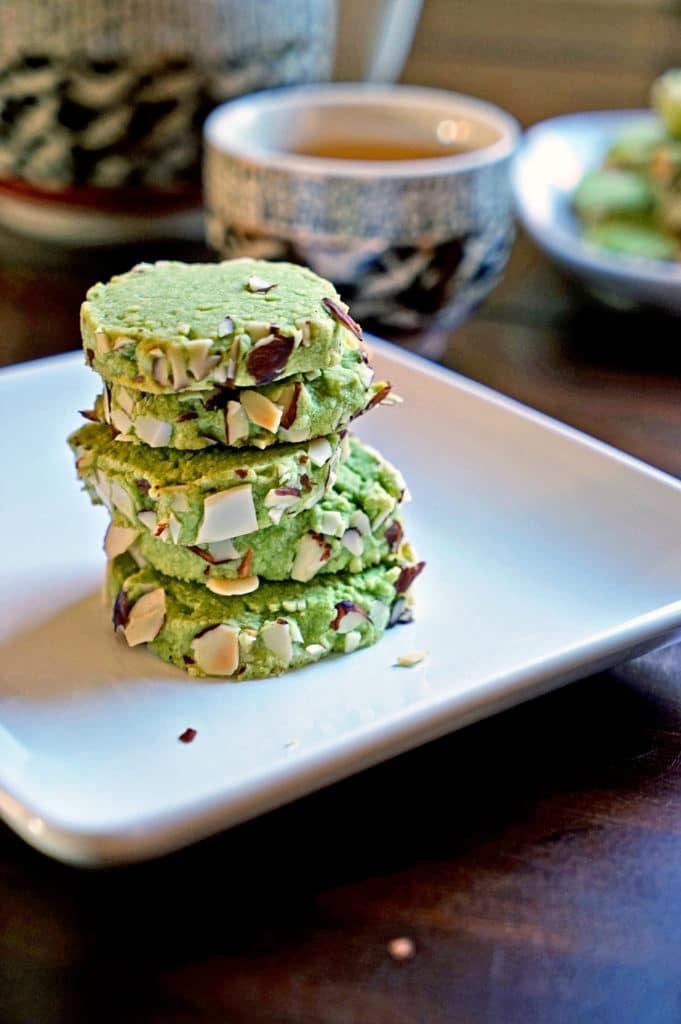 Macha Green Tea Almond Shortbread Cookies9