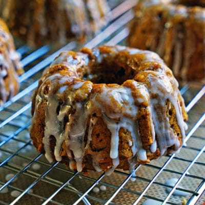 Pumpkin Chai-Spiced Mini Bundts with Lemon Glaze