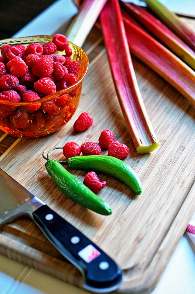 Rhubarb Berry Compote with Serrano Chili3