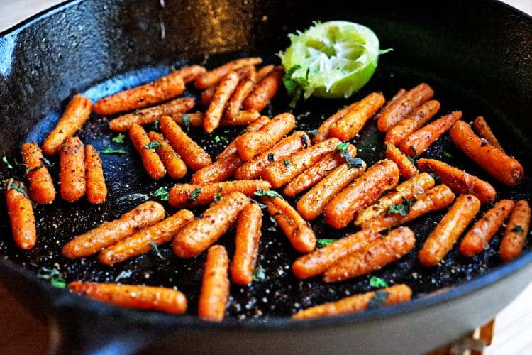 Roasted Carrots with Lime and Toasted Cumin Coriander and Fennel9