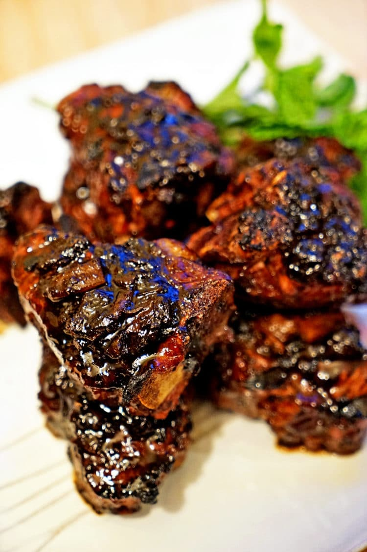 lamb loin chop recipes with vinegar Roasted Garlic Balsamic Glazed Lamb Loin Chops