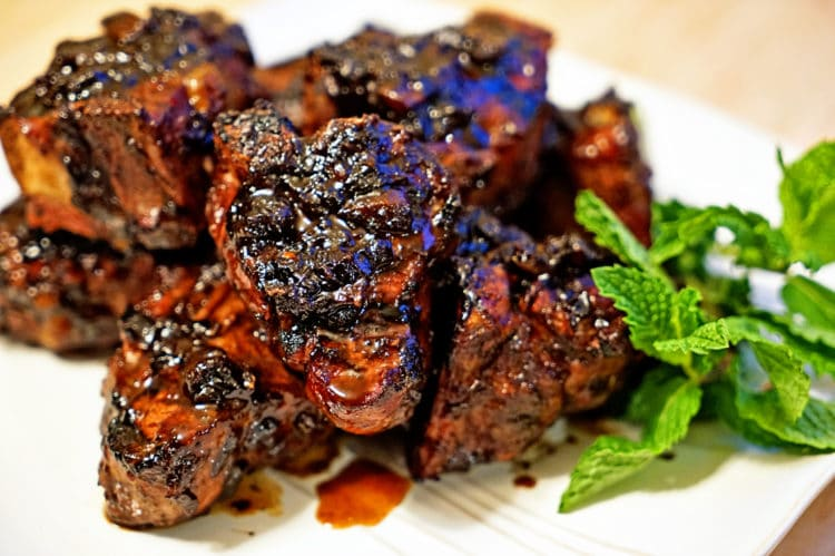 Roasted Garlic Balsamic Glazed Lamb Loin Chops8
