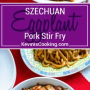 In this Szechuan Eggplant and Pork Stir Fry I quickly cook tender marinated pieces of pork loin with eggplant, bamboo shoots and green onion in a beautifully spiced sauce of chili and black bean paste, ginger, soy sauce, honey and few other pantry items for delicious meal in 20 minutes.