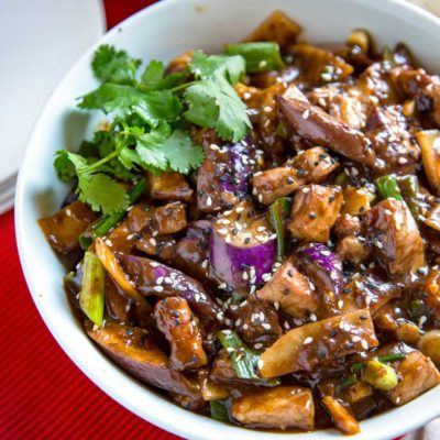 Szechuan Eggplant and Pork Stir Fry