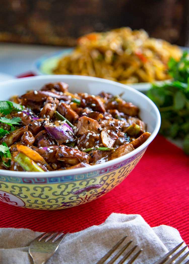 Szechuan Eggplant and Pork Stir Fry