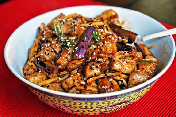 Szechwan Eggplant and Pork Stir-Fry2