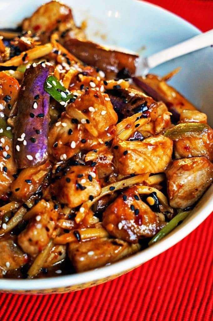 Szechwan Eggplant and Pork Stir-Fry5