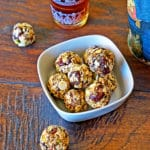 No Bake White Chocolate Cherry Pistachio Energy Bites