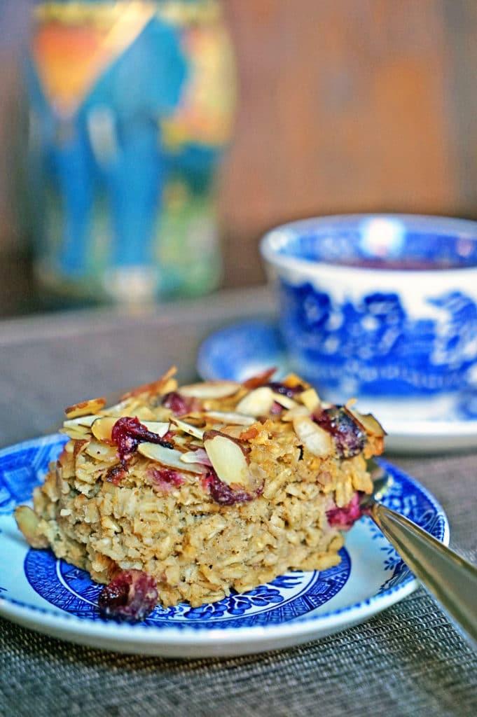 Cranberry, Apple, Nut Oatmeal Bake1