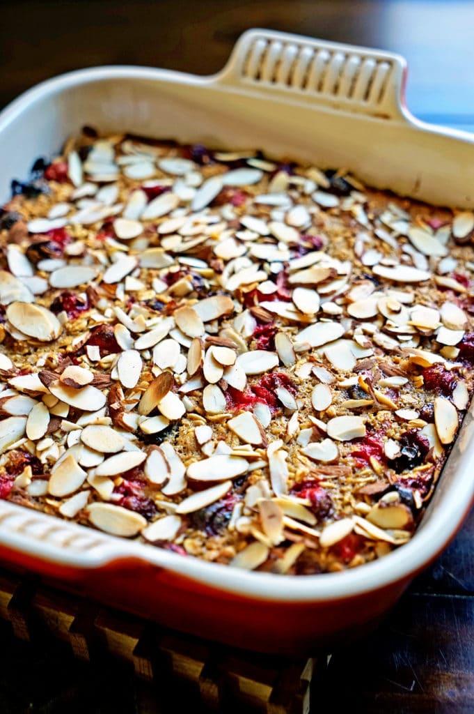 Cranberry, Apple, Nut Oatmeal Bake6