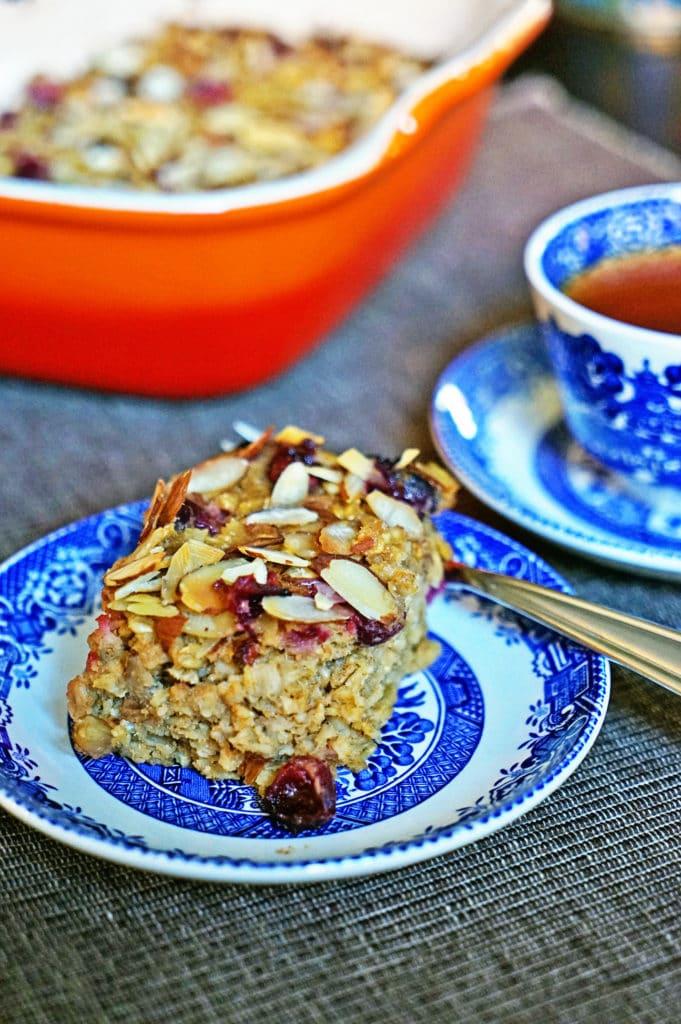 Cranberry, Apple, Nut Oatmeal Bake7