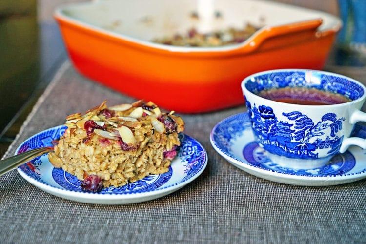 Cranberry, Apple, Nut Oatmeal Bake8
