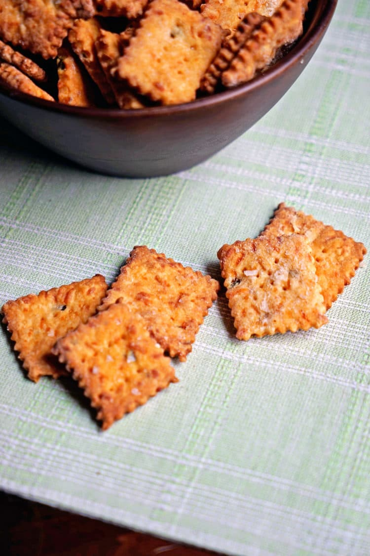 ... and Cheddar Cheese Crackers with Smoked Sea Salt - keviniscooking.com