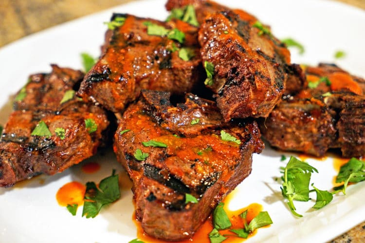 Mongolian Grilled Lamb Loin Chops