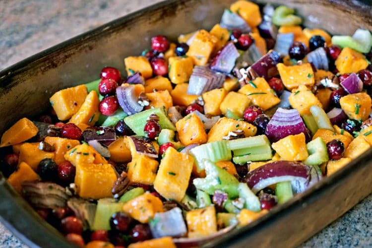 Roasted Butternut Squash Cranberries and Celery with Rosemary and Lime3
