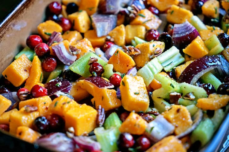 Roasted Butternut Squash Cranberries and Celery with Rosemary and Lime4