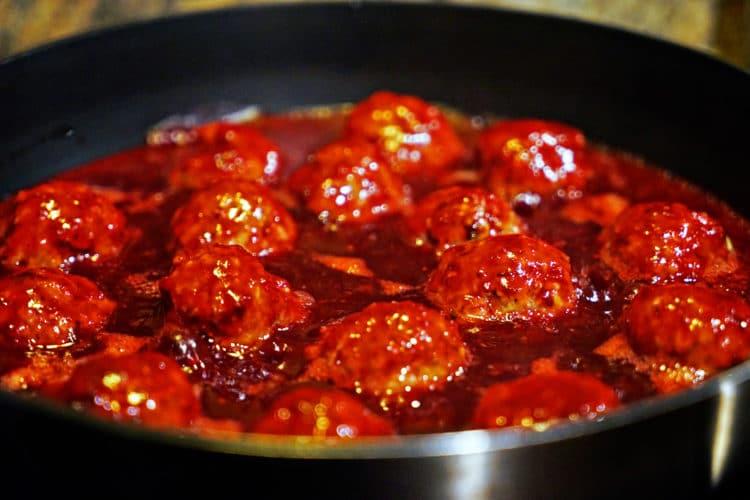 Roasted Garlic Turkey Meatballs with Spicy Cranberry Glaze6