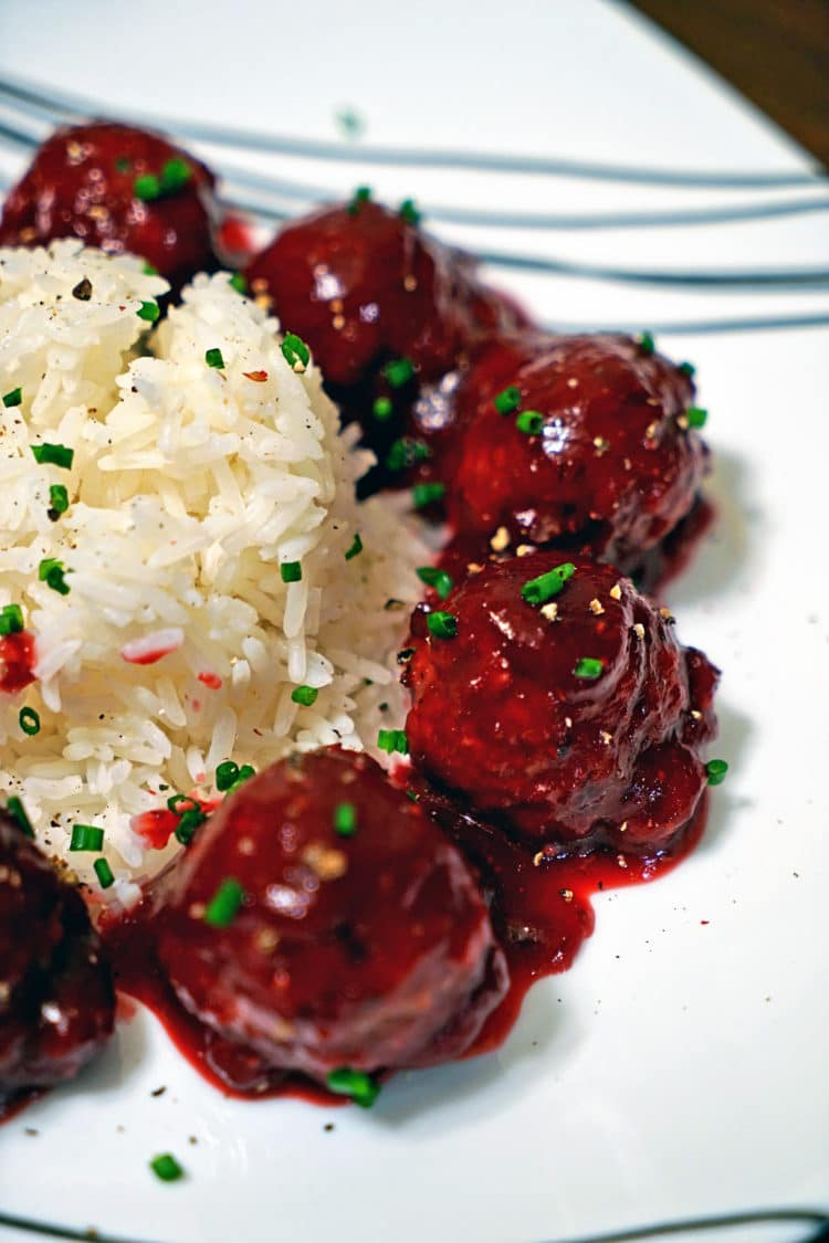 Roasted Garlic Turkey Meatballs with Spicy Cranberry Glaze7