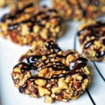 Almond Roca Chocolate Thumbprint Cookies