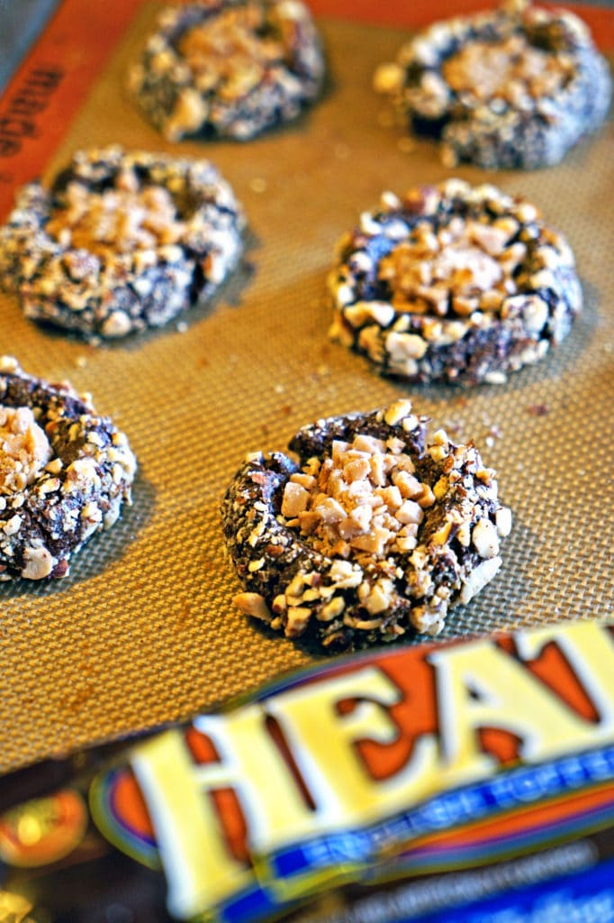 Almond Roca Chocolate Thumbprint Cookies8