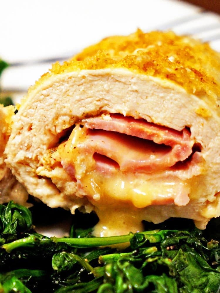 Baked Chicken Cordon Bleu With Maple Dijon Kevin Is Cooking