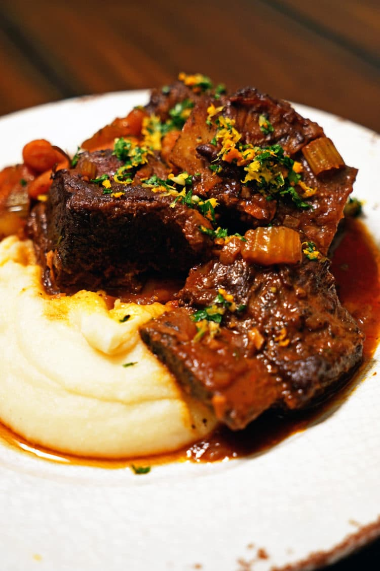Red Wine-Braised Short Ribs With Lemon-Herb Gremolata Recipes ...