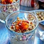Cinnamon Apricot Overnight Steel Cut Oatmeal with Goji Berries and Almonds