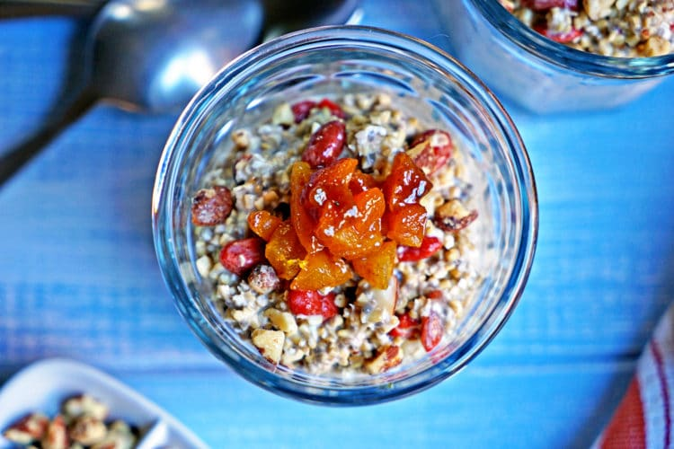 Cinnamon Apricot Overnight Oatmeal with Goji Berries and Almonds2