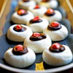 Peppermint Thumbprints with Chocolate Ganache